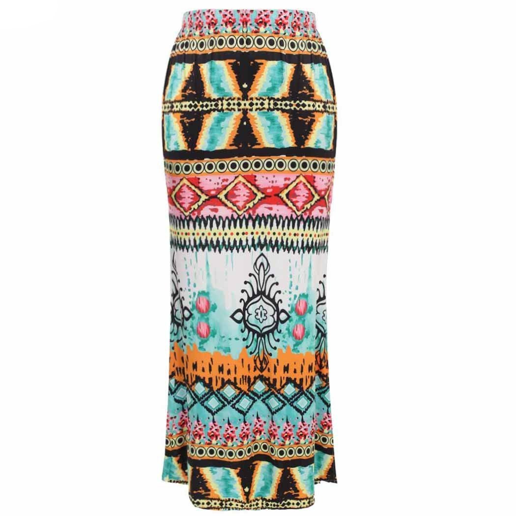 Sexy Package Hip Ethnic Style Printed Beach Maxi Skirt 2016 Summer Women High Waist Slim Long Skirt Casual Sheath Skirt S-XXL