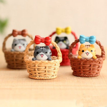 Artificial mini cat 3.5cm fairy garden miniatures mini gnomes moss terrariums resin crafts figurines for garden decoration