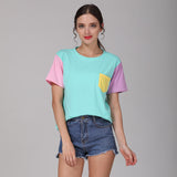 Cute Patchwork T Shirt