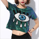 Crop Tops Tops Sequins Casual Tops