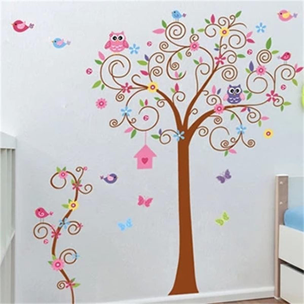 flower tree wall decal colorful hot sells wall decals zooyoo7250 home decorations diy pvc removable wall stickers for kids room
