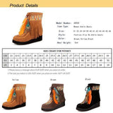 Women Shoes Indian Fringe Boots