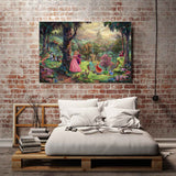 Thomas Kinkade Sleeping Beauty, HD Canvas Print Home decoration Living Room bedroom Wall pictures Art painting