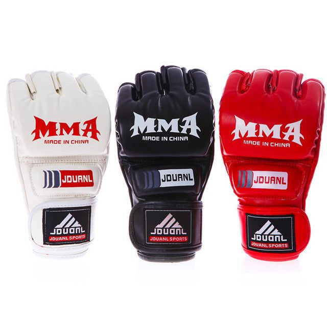 mma boxing gloves extension wrist leathe