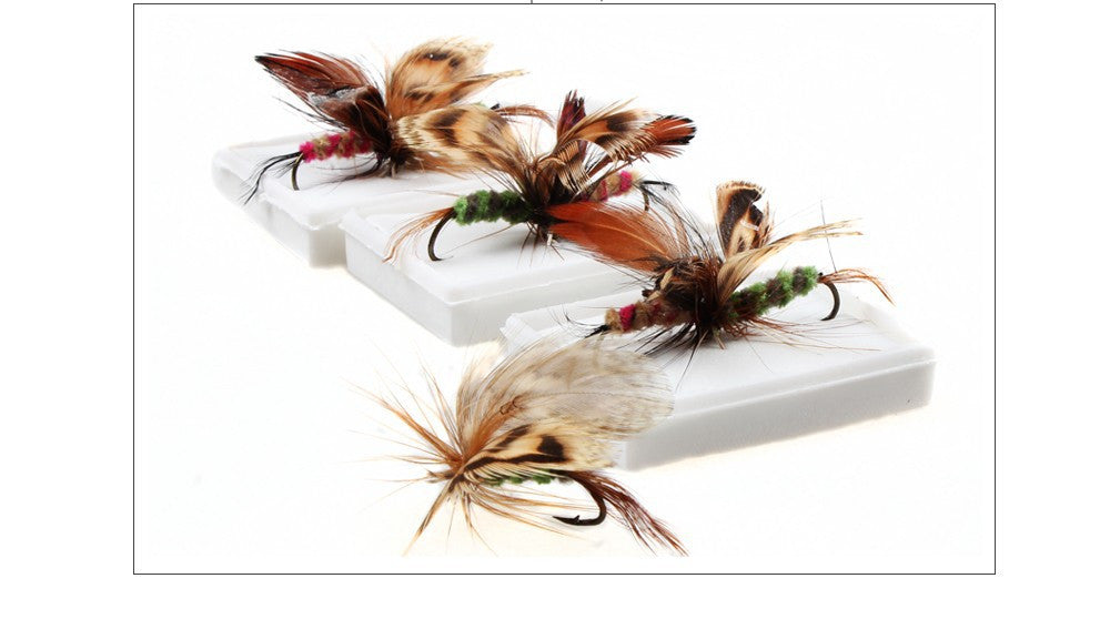 144pcs Butterfly Flies Style Fly Fishing Lure Fishing Baits Trout Salmon Fly Fishing Tackle Artificial Bait Pesca