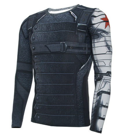 3D Winter Soldier Shirt