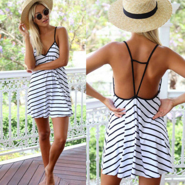 2015 new fashion summer wear white striped casual two pieces three quarter sleeves sheath dress print dress two piece set