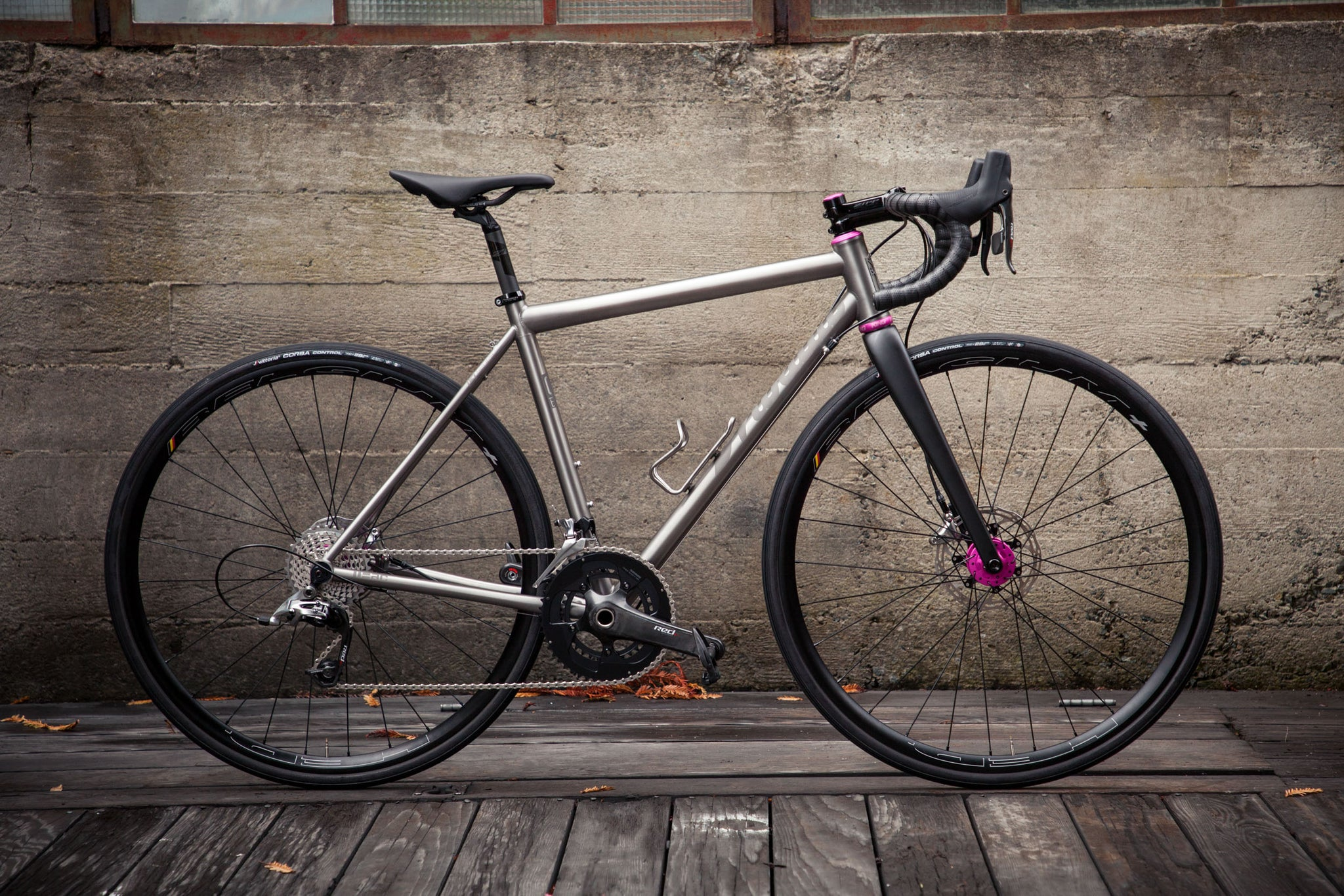 Mosaic GT-1 Custom Titanium Bike Side