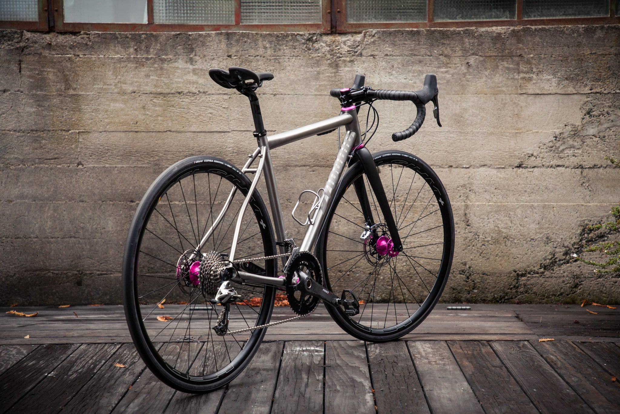 Mosaic GT-1 Custom Titanium Bike rear