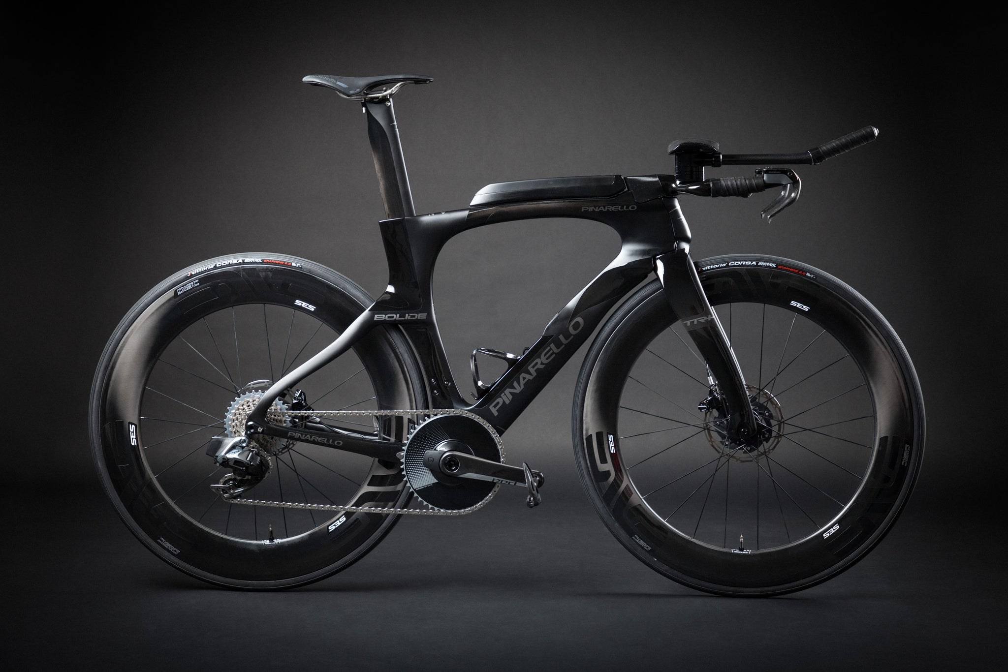 A Blacked Out Pinarello Bolide Gallery bike profile