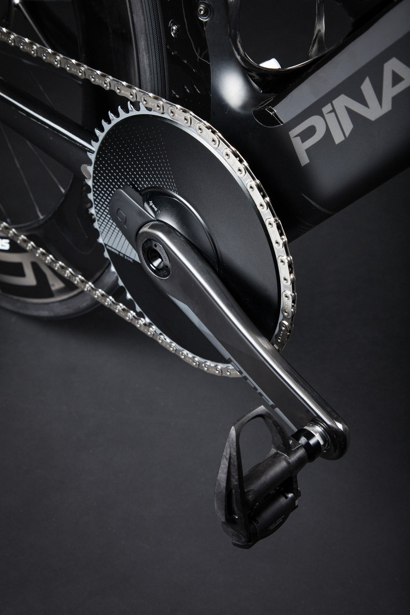A Blacked Out Pinarello Bolide Gallery AXS aero crank
