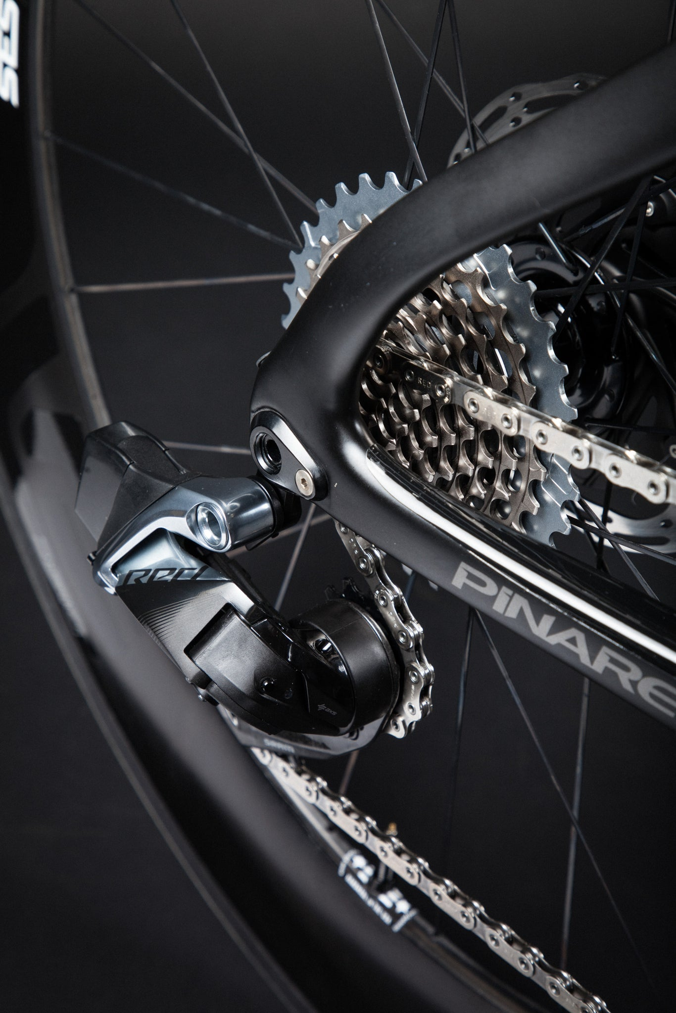 A Blacked Out Pinarello Bolide Gallery derailleur cassette