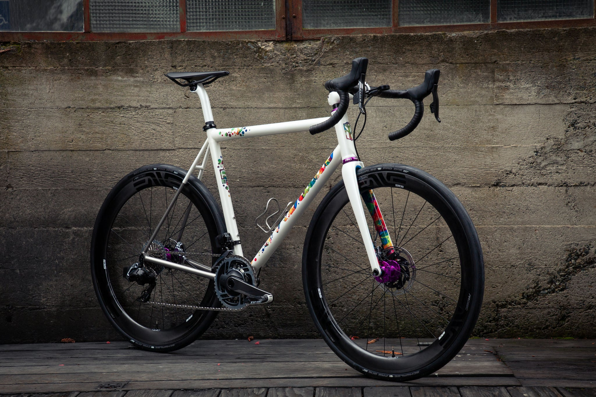 mosaic RT-1d Prismatica titanium road bike header