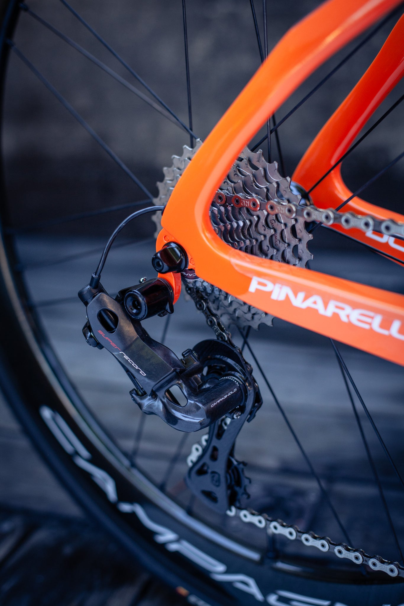 pinarello f12 super record rear derailleur EPS