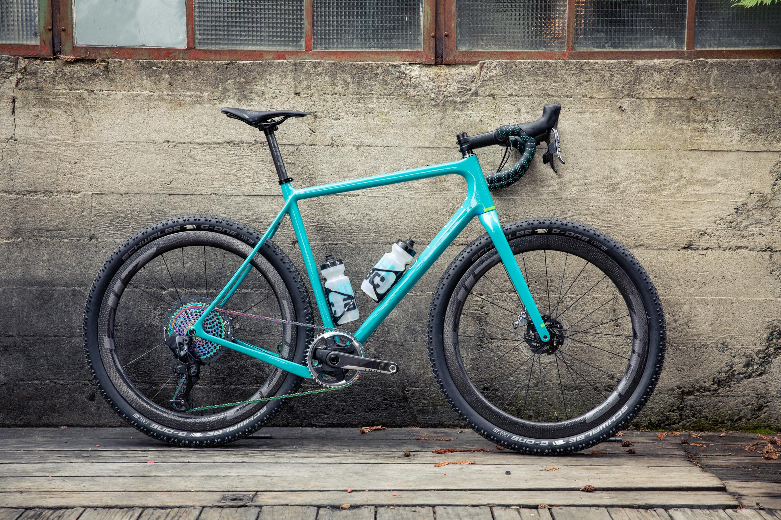 Open WIDE Turquoise Sram Zipp bike profile