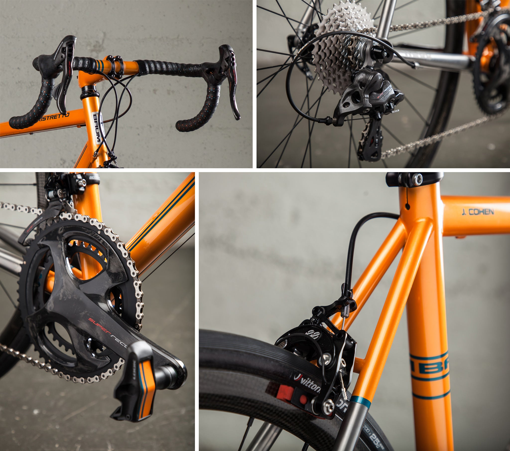 baum ristretto orange super record JC drive train