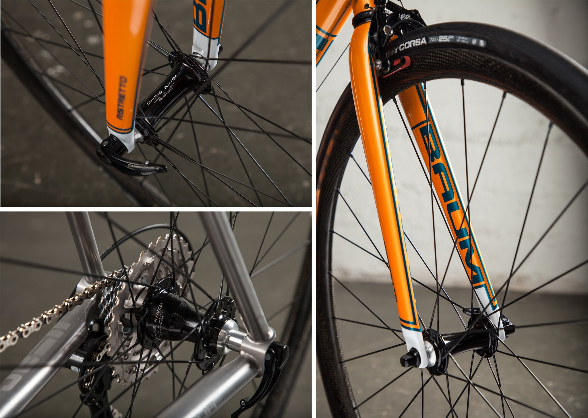 baum ristretto orange super record JC wheels