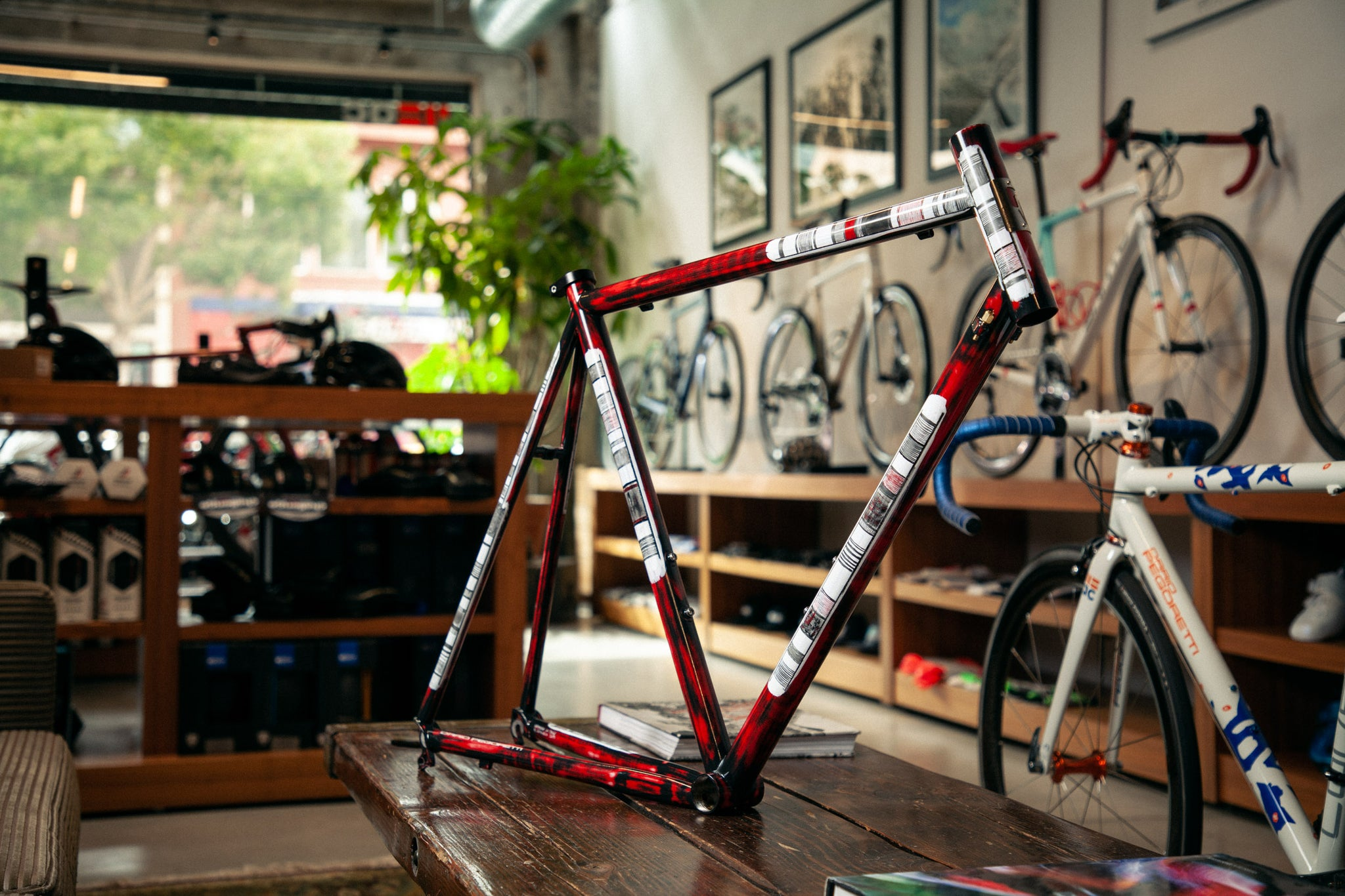 https://abovecategorycycling.com/blogs/gallery/gallery-a-wine-red-pegoretti-mxxxxxo frameset 1