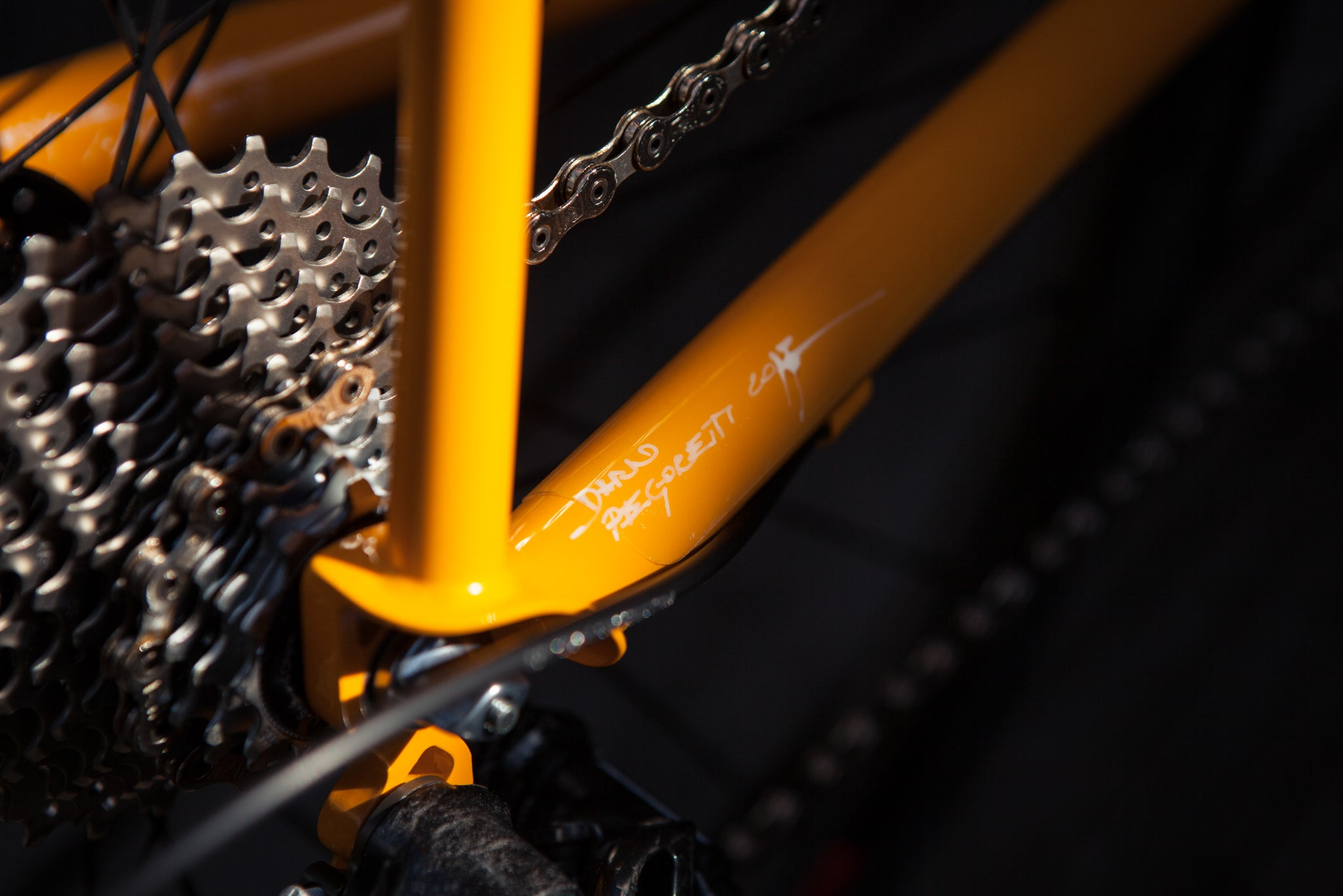 Dario Pegoretti Signature on Ciavette Custom Steel Bike