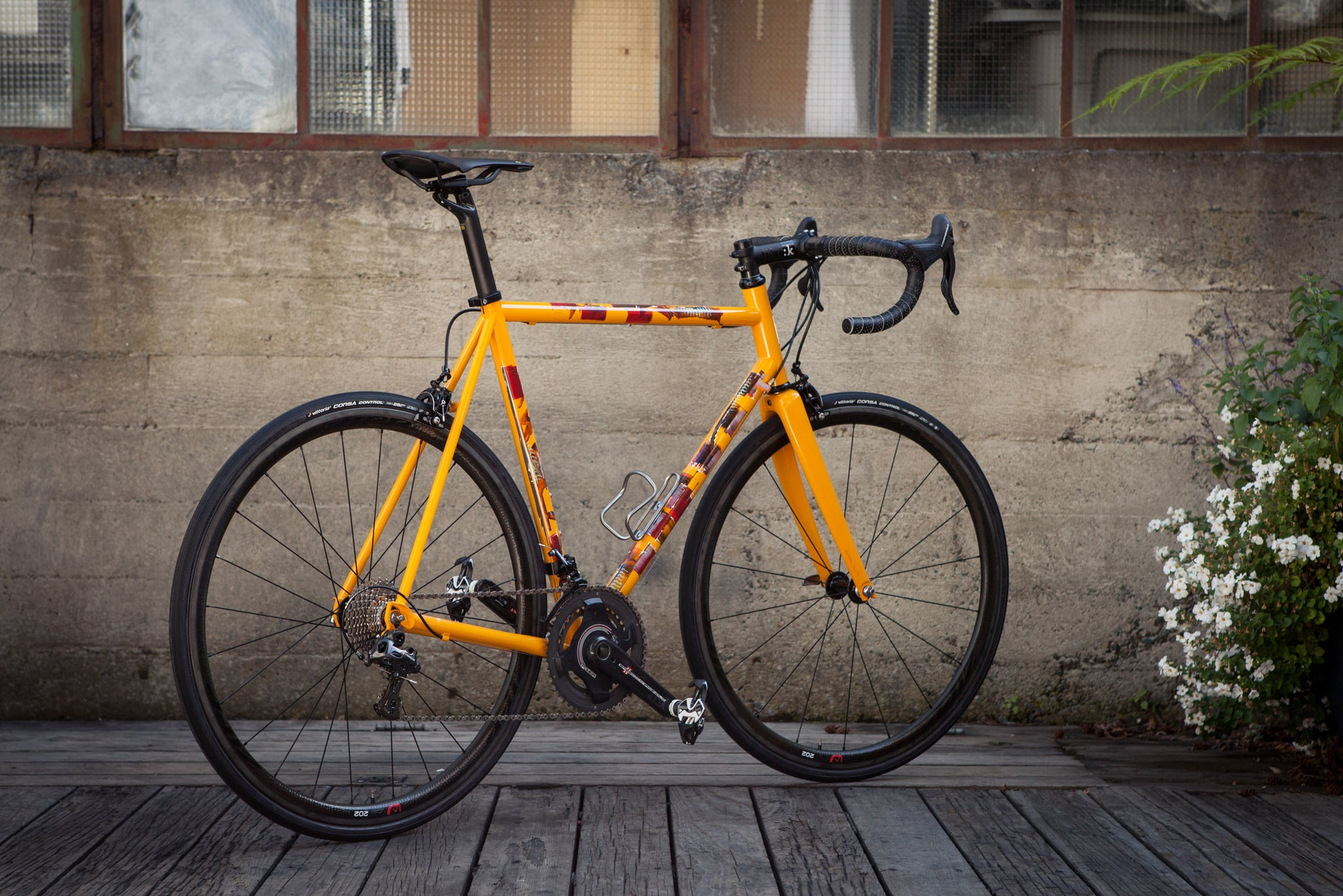 Custom Painted Steel Dario Pegoretti Ciavette Bicycle rear