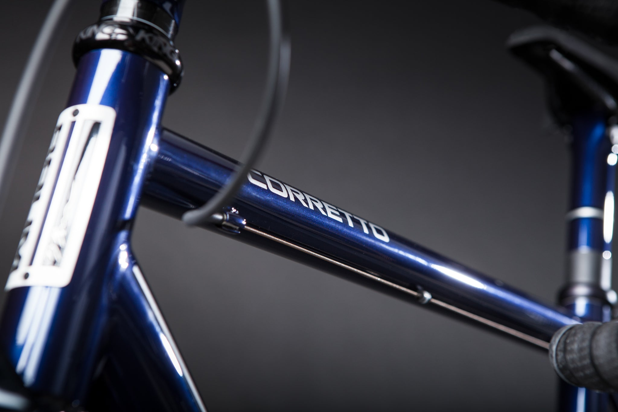 Baum Custom Titanium Bicycle detail of toptube