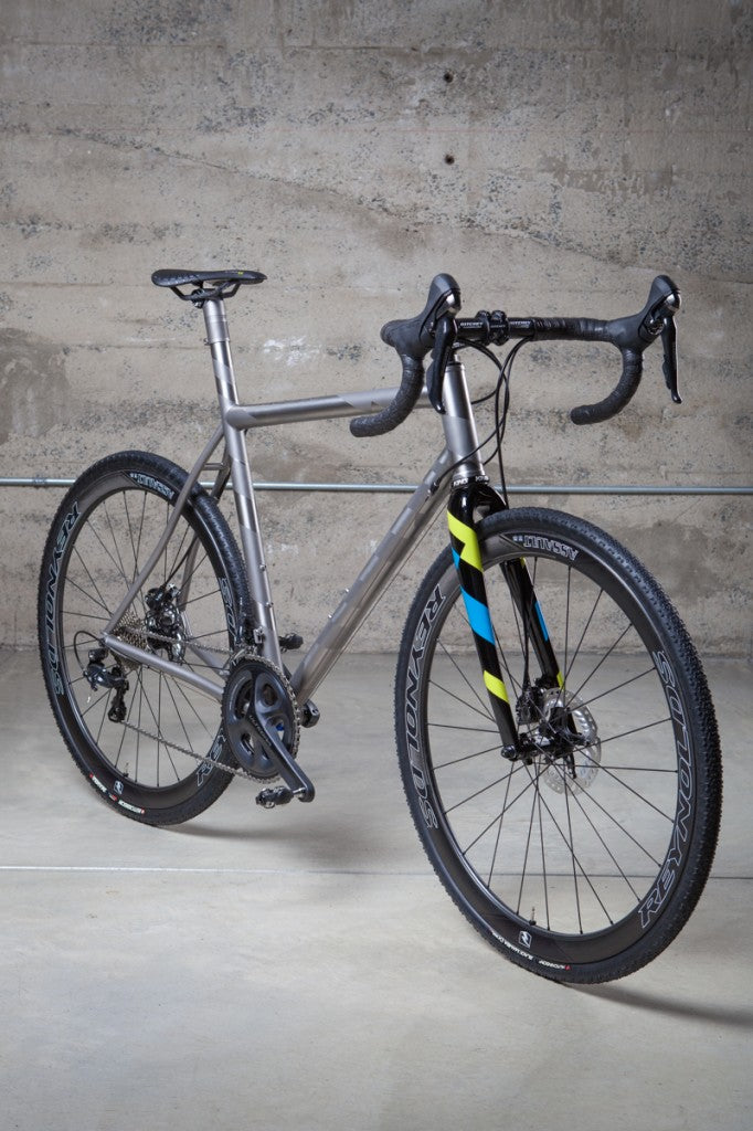 Custom Mosaic Titanium Bicycle front