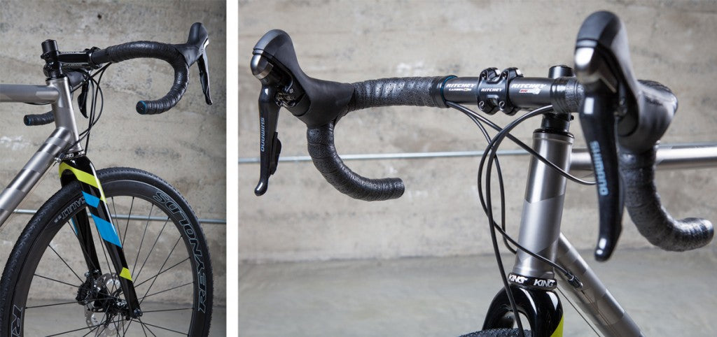 Mosiac Custom Titanium Bicycle handlebars