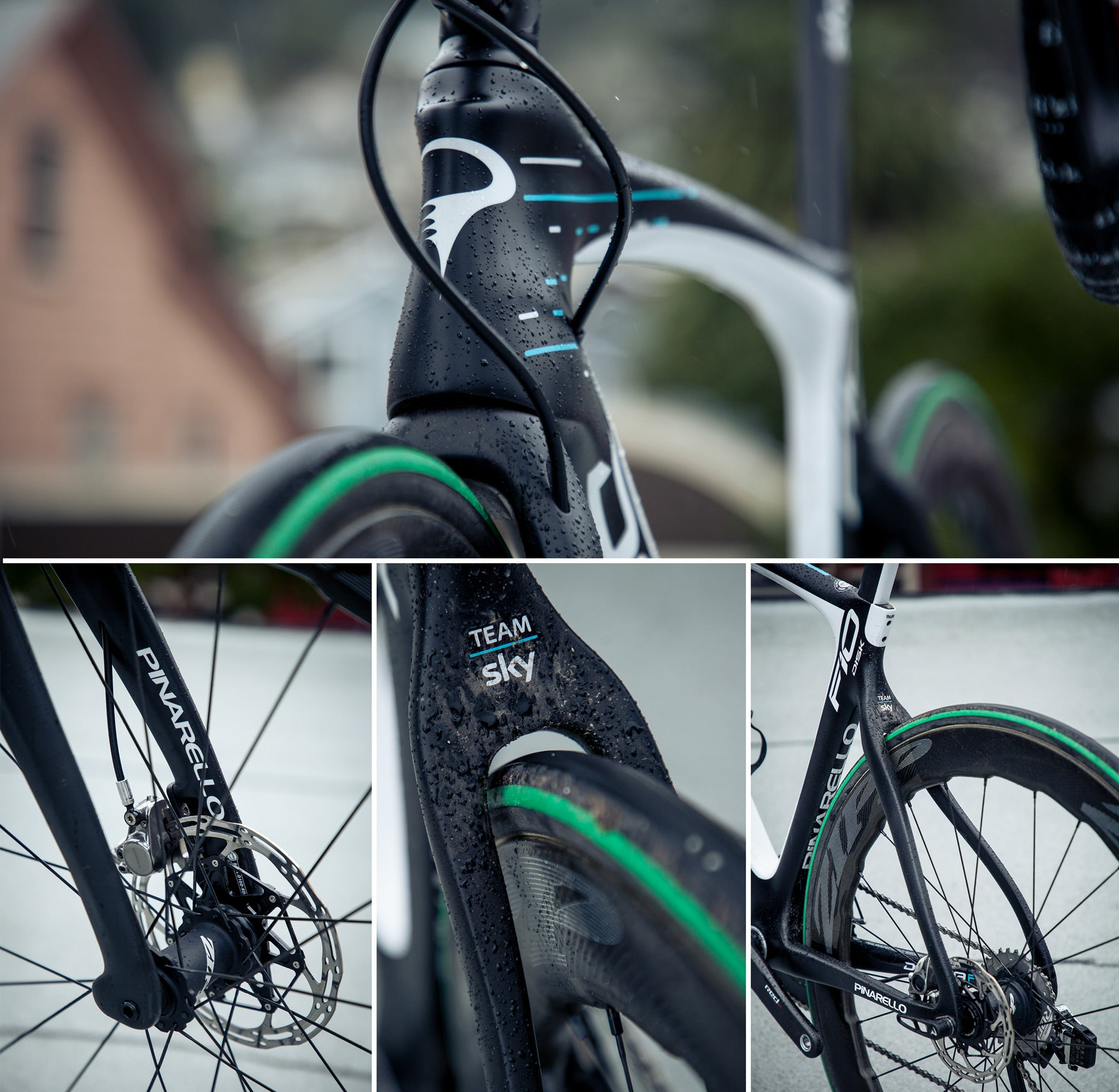 pinarello dogma f10d disc brake carbon team sky details
