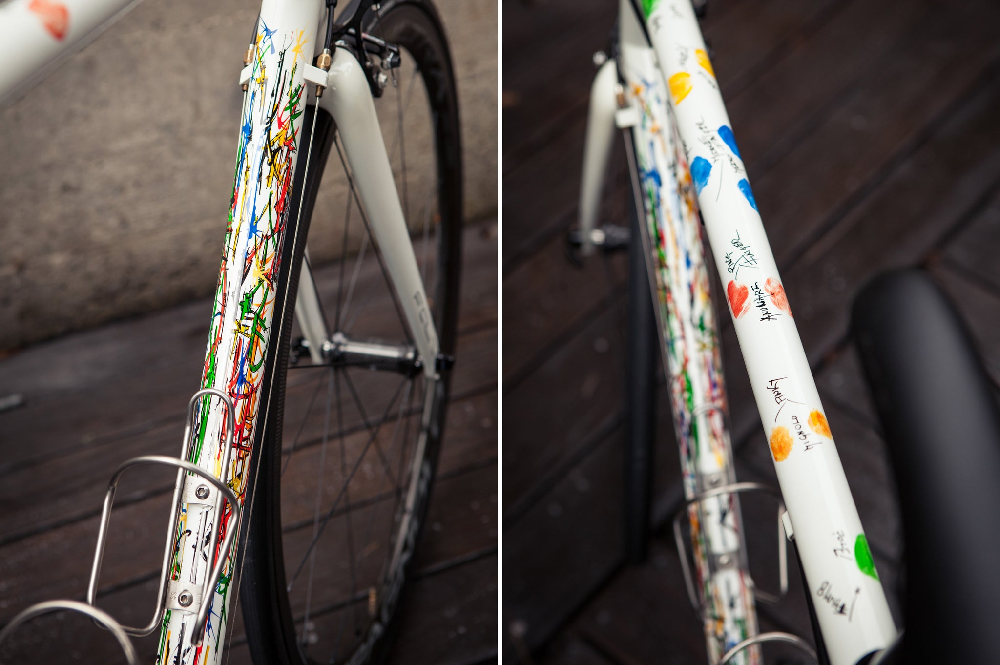 Custom Pegoretti Steel Frame Downtube Details
