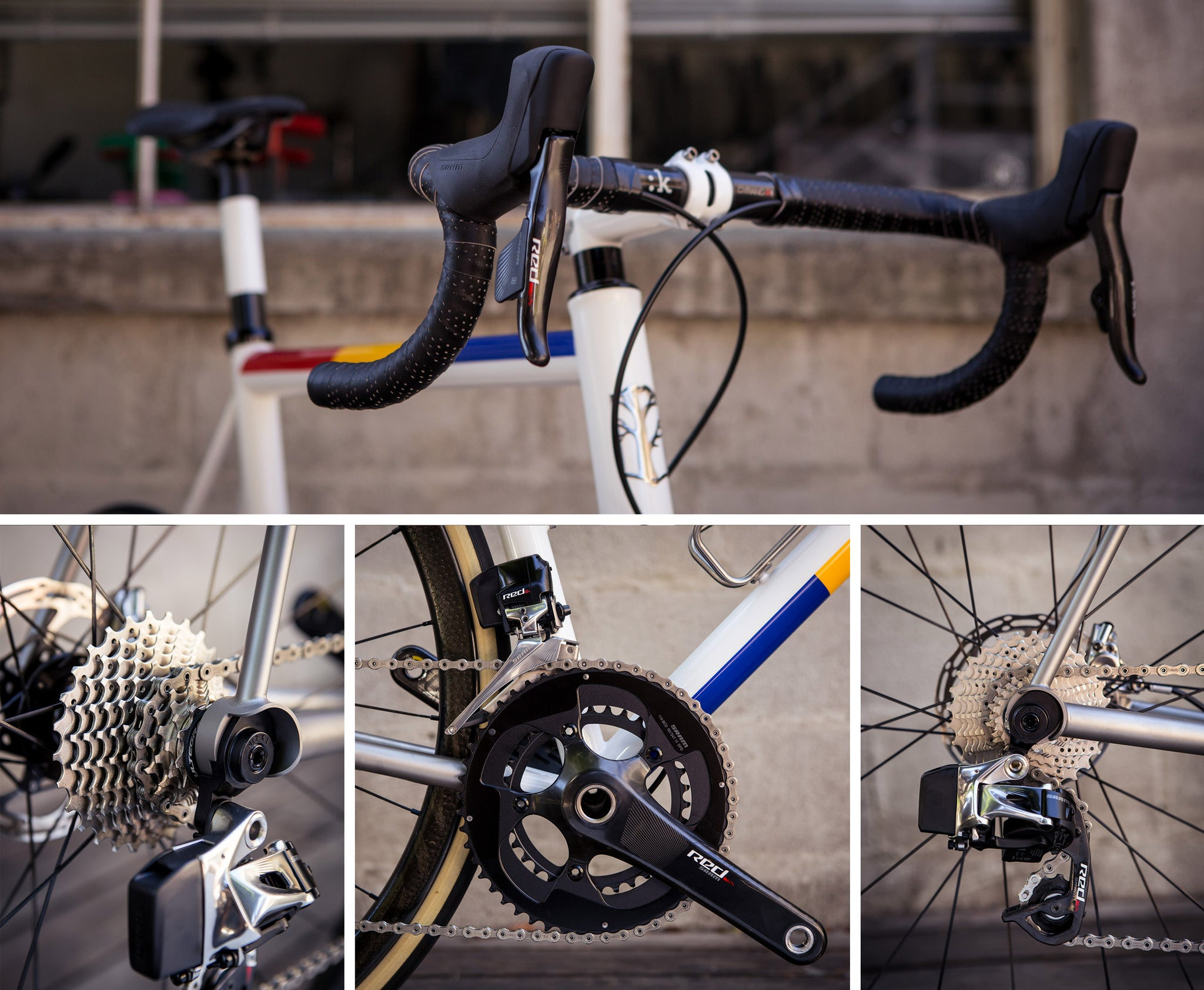 Mosaic Rt-1 Disc Tri color drivetrain