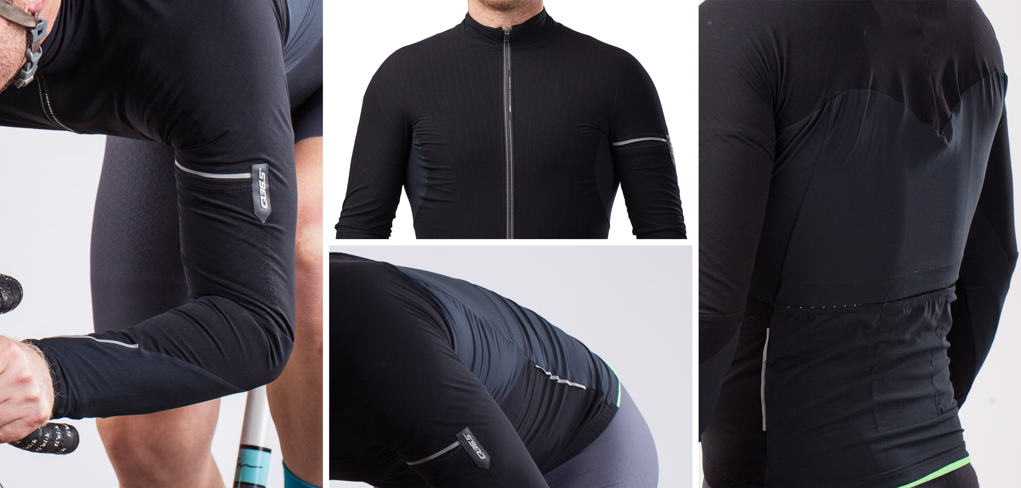 q36.5 hybrid que long sleeve jersey details