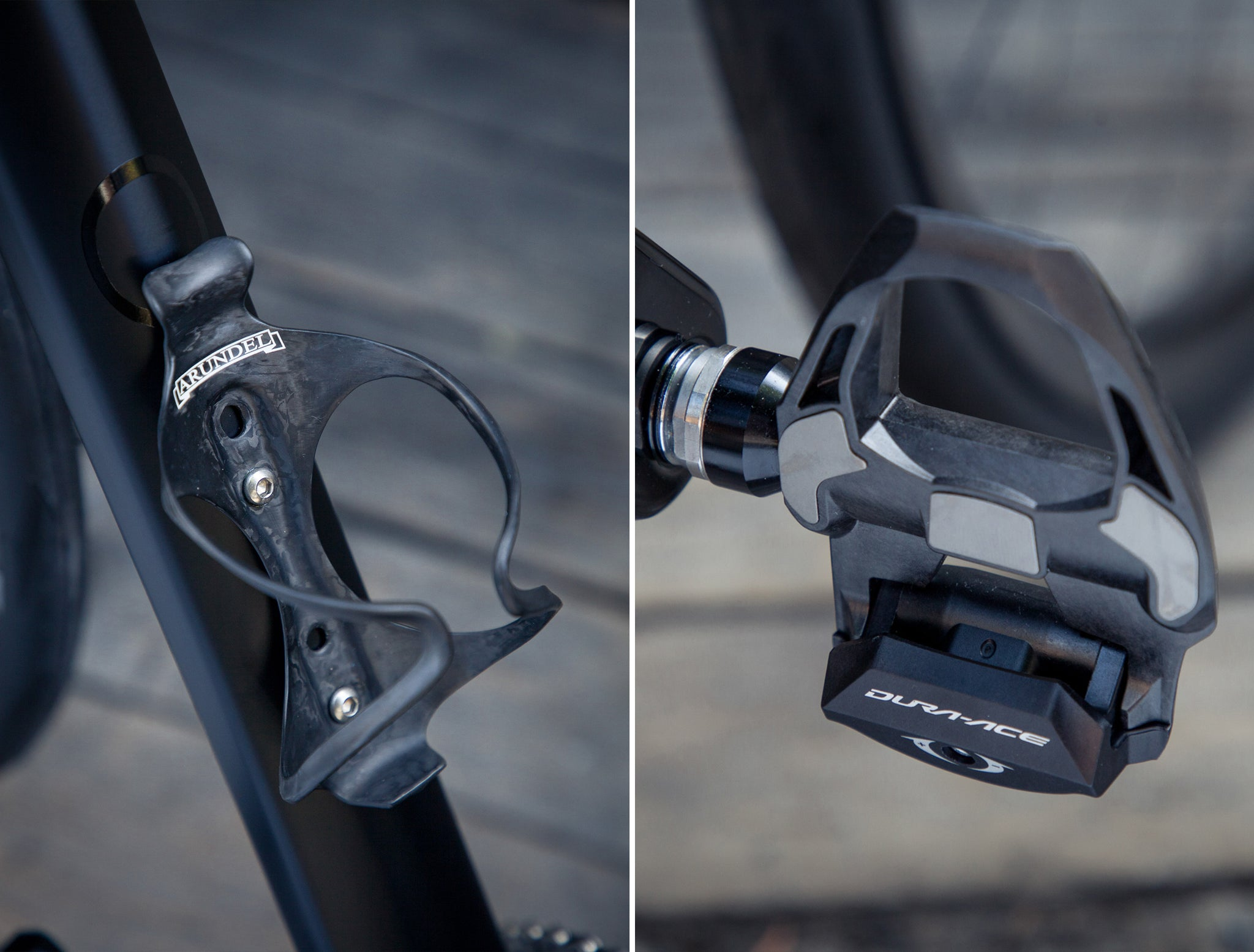 Open UPPER bottle cage pedals