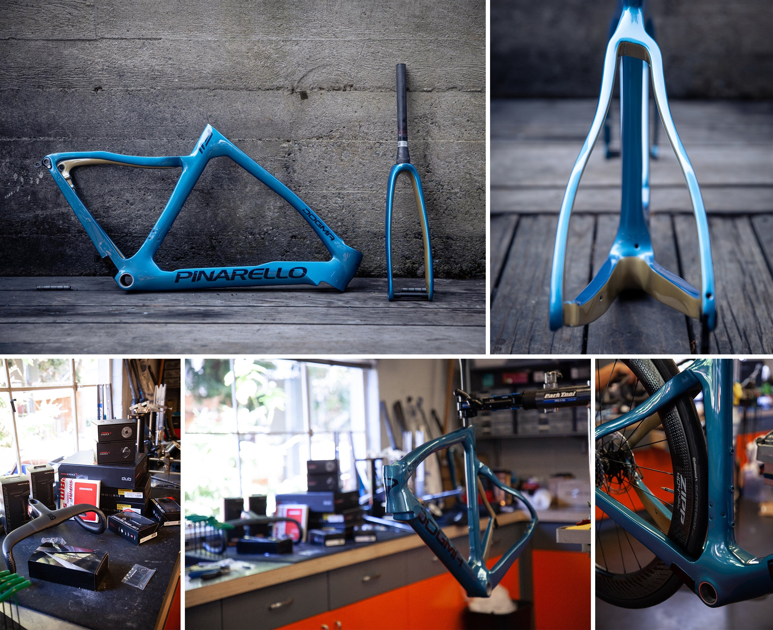 viking blue Pinarello F11 frame and paint