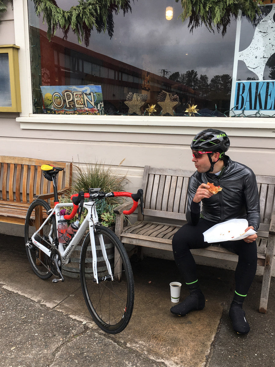 Orbea at Coffee stops in the rain, above category