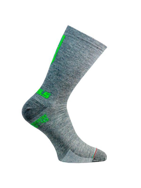 Compression Sock 100% Wool Grey Unisex