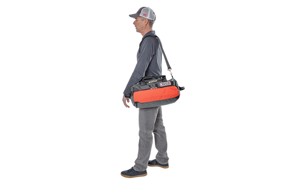 Number 1.5 Side Pocket Duffel Bag Charcoal Orange