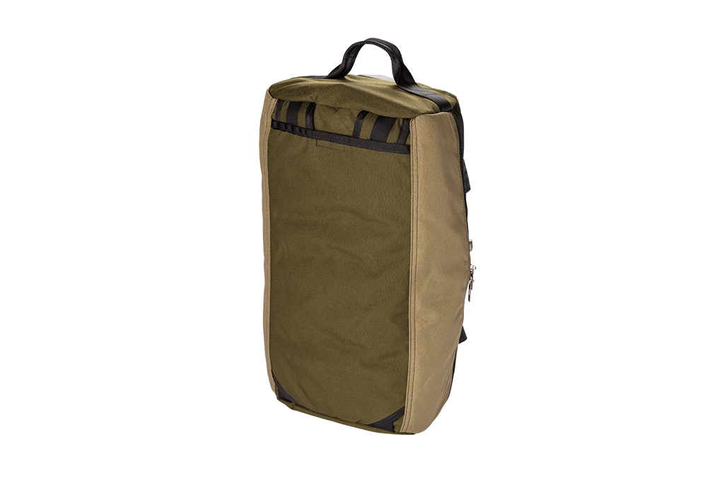 Number 2 Duffel Bag Backpack Moss Khaki Back