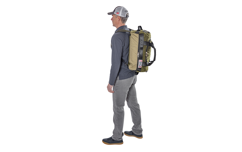 Number 2 Duffel Bag Backpack Moss Khaki