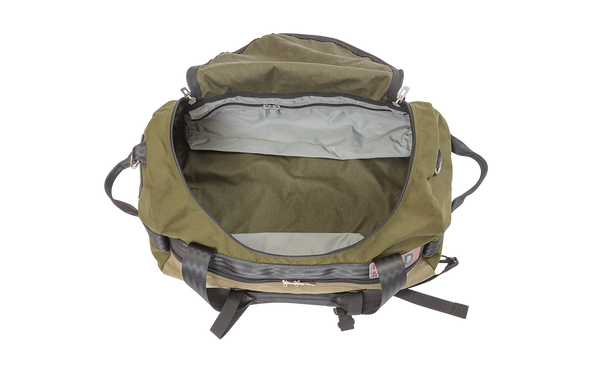 Number 4 Duffel Bag Side Pocket Inside View