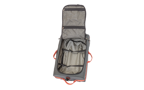 Rollaboard Rolling Duffel Luggage Charcoal Orange Inside View