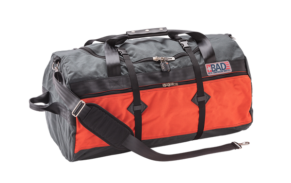 Number 5 Duffel Bag Backpack Charcoal Orange