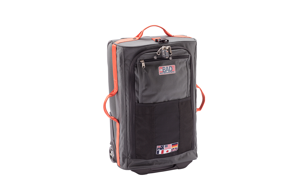Rollaboard Rolling Duffel Luggage Charcoal Orange