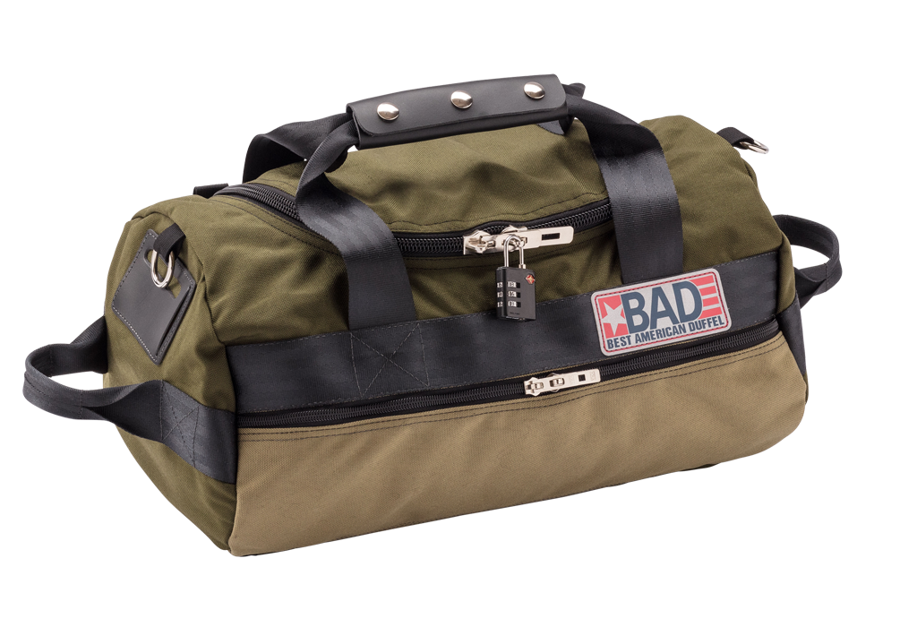 Number 1.5 Side Pocket Duffel Bag Moss Khaki