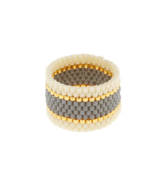 Woven Ring, Gray