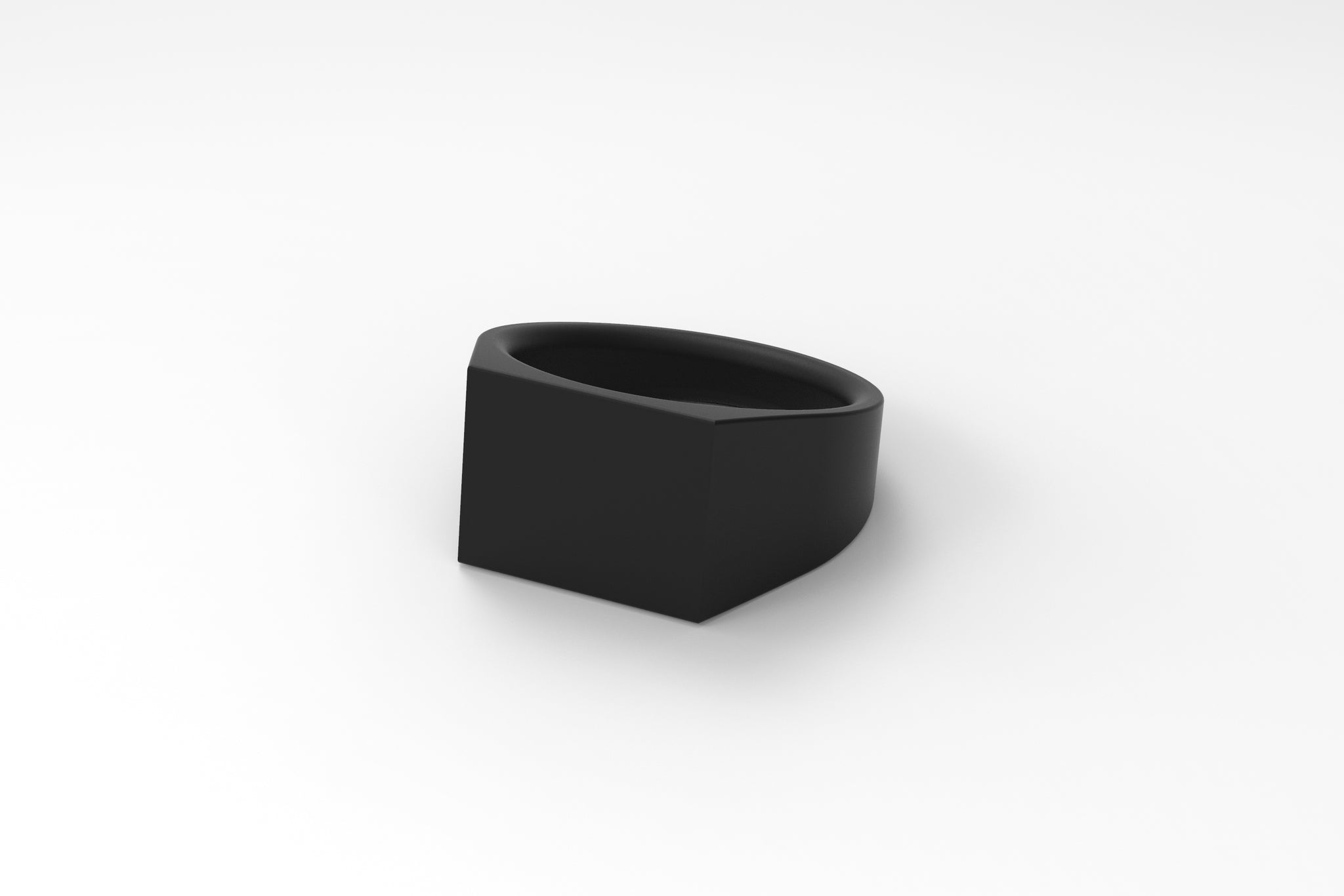 artifact 1 // 12mm Signet Ring // Matte Black