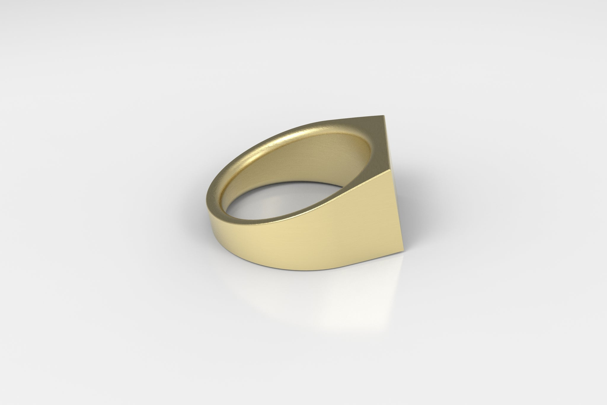 artifact 1 // 12mm Signet Ring // Brass