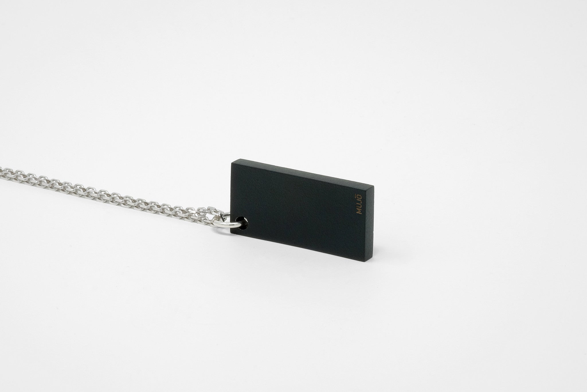 CS 16mm Pendant Necklace // Matte Black - Men's Pendant Necklace - MUJO NYC - 1