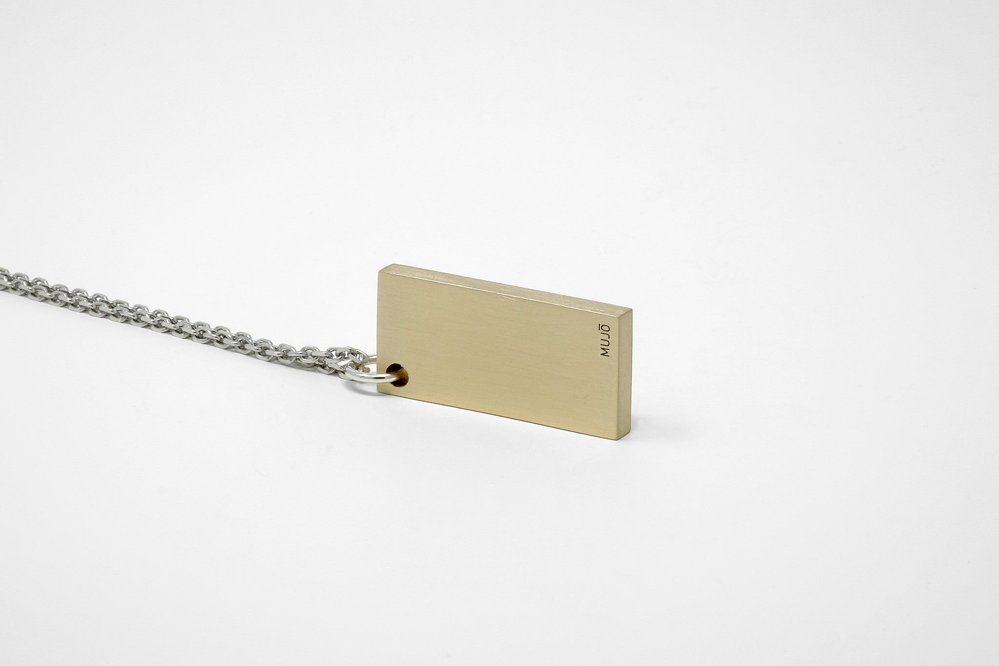 CS 16mm Pendant Necklace // Brass - Men's Pendant Necklace - MUJO NYC - 1