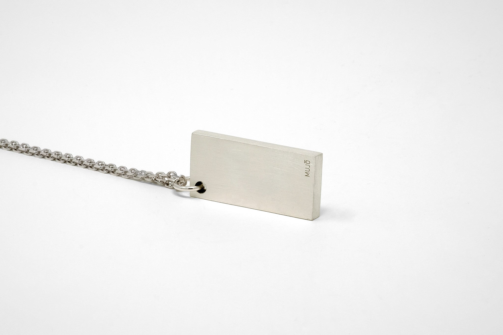 CS 16mm Pendant Necklace // Sterling Silver - Men's Pendant Necklace - MUJO NYC - 1