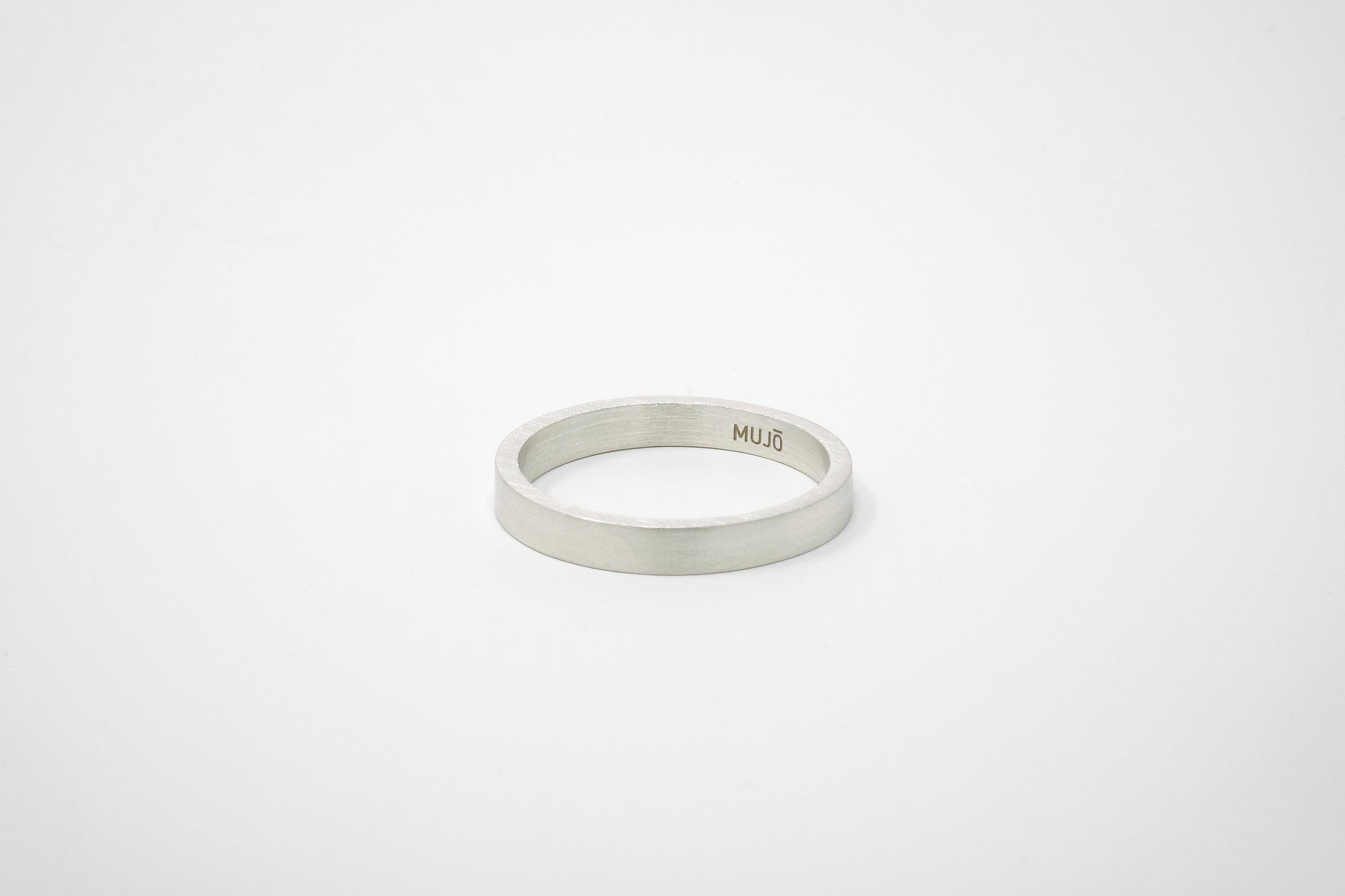 CS 4mm Band // Sterling Silver - Men's Ring - MUJO NYC - 1